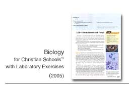 Biology for Christian Schools with Laboratory Exercises
